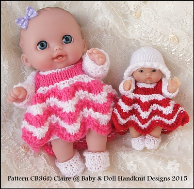 Dress & Shrug Set for 5 & 8 inch Berenguer/Lil Cutesie dolls