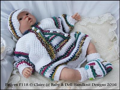 Sleeveless romper set 16-22 inch doll/0-3m+ baby