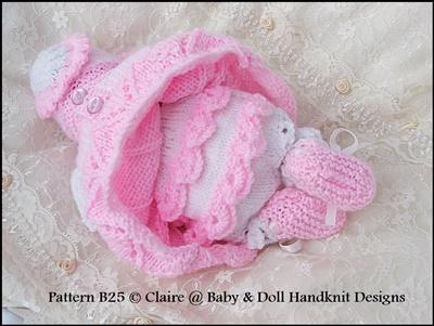 Candystripe dress set for 8-13 inch dolls