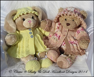Pleated Style Coat Set 16 inch Teddy or Build a Bear Animal