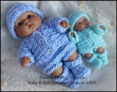 Jacket & Pants Set 5 and 8 inch Berenguer Dolls