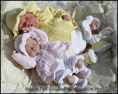 Lacy Spring Suit for 10-16 inch doll/preemie baby