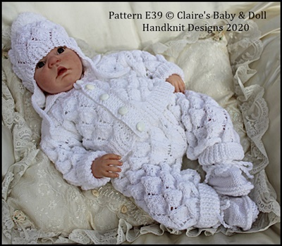 Falling Leaves Pram Suit 16-22 inch dolls/newborn/0-3m baby