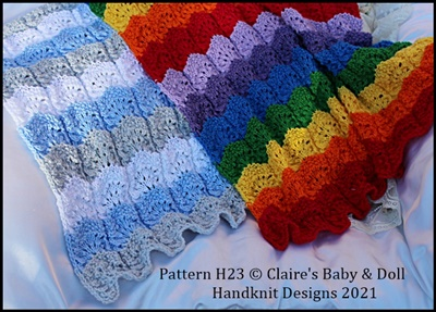 Rainbow Blanket Knitting Pattern