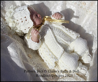Lacy Pleats Pram Set 7-12 inch doll