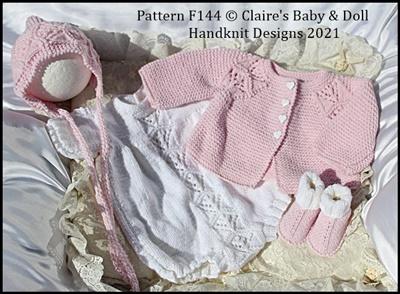 Romper & Jacket Set 16-22 inch dolls/newborn/0-3m baby