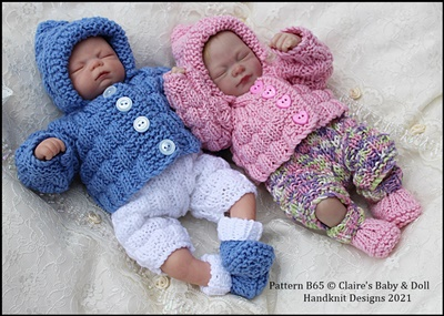 Hooded Jacket Set 7-12 inch doll