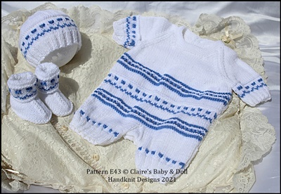 Coloured Romper set 16-22 inch dolls/newborn/0-3m baby