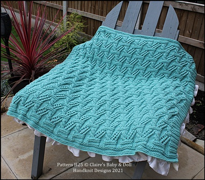 Cables and Lace Blanket Pattern (Free with any purchase)