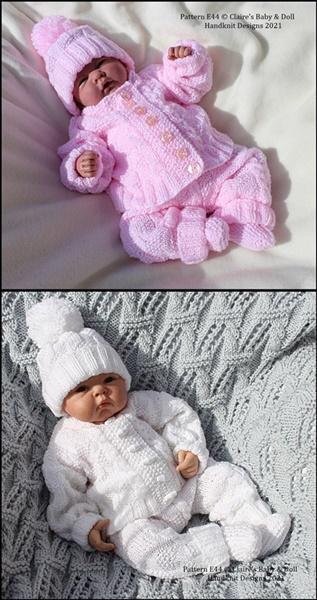 Unisex Pram Suit 16-22 inch doll/newborn/0-3m baby
