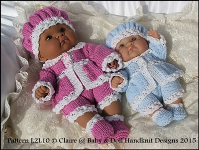 Victorian Style Set 10 inch & 14 inch Lots to Love Berenguer doll