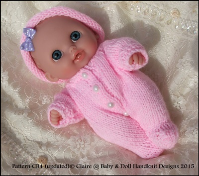 All-in-One and Hat for chubby 5 & 8 inch Berenguer dolls/8 inch Lil Cutesie