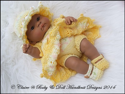 Bobble Edged Dress Set 14 inch Lots to Love Berenguer doll