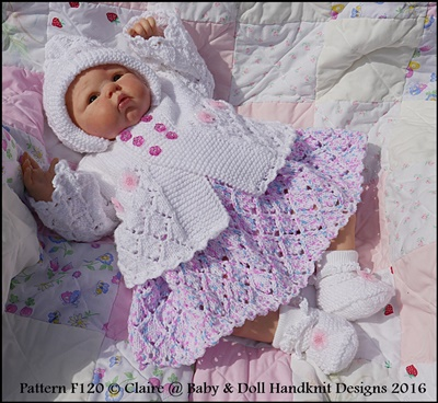 Lacy Dress & Hoody Set 16-22 inch doll/prem-3m+ baby