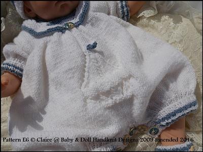 Sailor Romper Set 17-23 inch doll/newborn/0-3m baby
