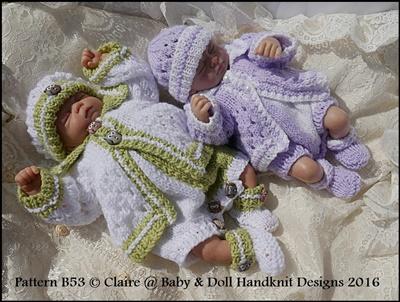 Romper & Coat Set 8-13 inch doll