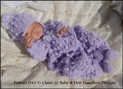 Bobble Patterned All In One Set  10-17 inch doll