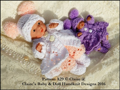 Lacy Winter Coat Set 4-8 inch dolls