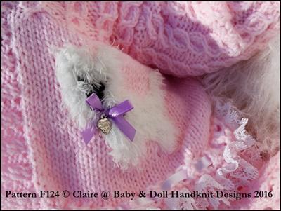 Dress & Doggy Motif Jacket Set 16-22 inch doll/preemie-3m baby