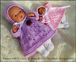 Eyelet Dress Set 4-8� dolls