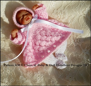 "Eyelet Dress Set 4-8"" dolls"