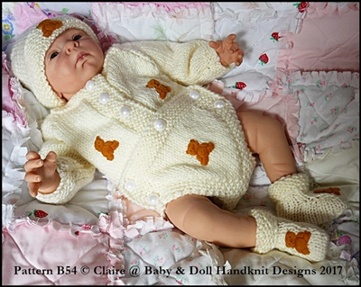 "Button Front Body Suit, Hat & Boots for 10-22"" dolls"