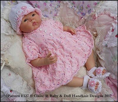 Summer Diamond Pattern Suit 16-22 inch doll/prem-3m+ baby