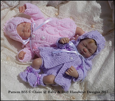Bell Rib Matinee Set 7-12� doll