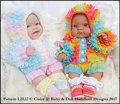 Loopy Coat Set 14 inch Lots to Love Berenguer doll