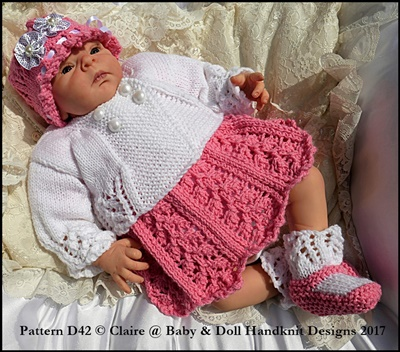 Little Leaves Dress & Jacket Set for 15-19� doll (preemie-newborn baby)