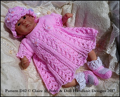"Little Leaves Dress & Jacket Set for 15-19"" doll (preemie-newborn baby)"