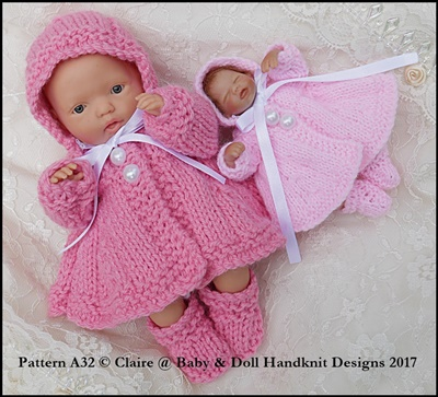 Traditional Coat Set 4-8� dolls