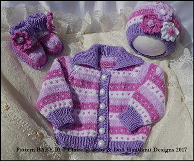 "New baby gift set jacket, beanie and boots for premature/newborn/0-3m+ baby/14-22"" doll(boy or girl)"