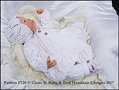 Lacy Pram Suit 16-22� doll/prem-3m+ baby