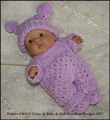 """Patterned All-in-One Set for 5 & 8"""" Chubby Berenguer dolls"""