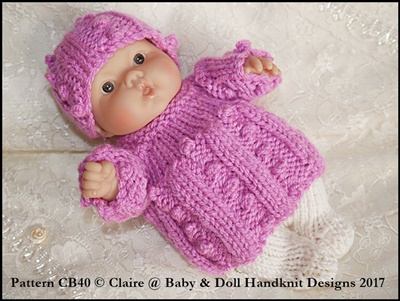 Angel Top & Tights Set for 5 & 8 inch Chubby Berenguer dolls