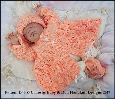 Bobbled Fern Lace Set for 13-19 inch doll