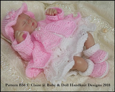 Dress & Coat Set 7-12 inch doll