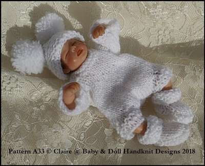 "Long Sleeved Bodysuit Set 4-8"" dolls"