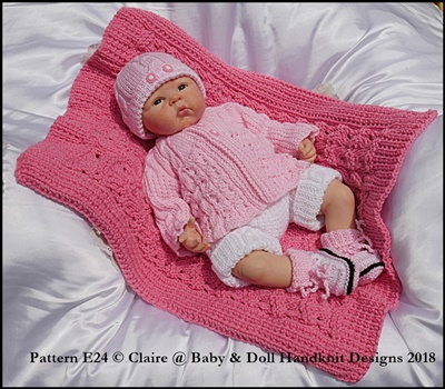 Shorts & Jacket set with Blanket 16-22 inch doll/0-3m baby