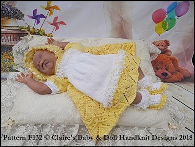 'Baby Alice' Dress Set 16-22 inch doll/preemie-3m+ baby
