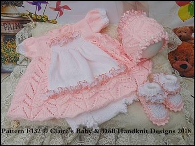 'Baby Alice' Dress Set 16-22 inch doll/preemie-3m+ baby