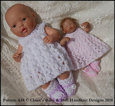 Dress & Hooded Jacket Set 4-8 inch dolls