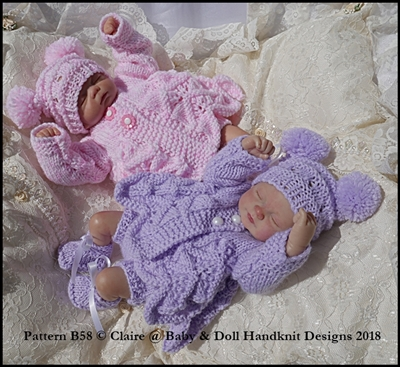 Lacy Summer Pram Set 7-12 inch doll