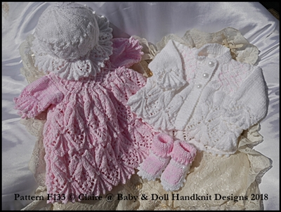 Leaves and Bobbles Dress Set 16-22 inch doll or preemie-3m+ baby