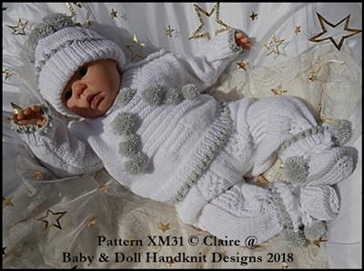 Christmas Pom Pom Tree Set 16-22 inch dolls/newborn/0-3m baby