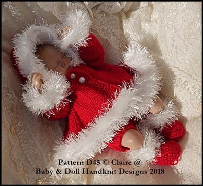"Fur Edged Hooded coat set for 11-15"" doll"