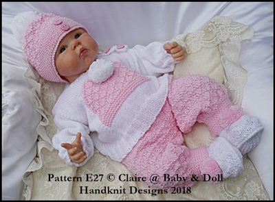 Bobble Hat Motif Set Set 16-22 inch dolls/newborn/0-3m baby