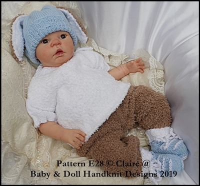 Peter Bunny Outfit  19-22 inch doll/0-3m baby