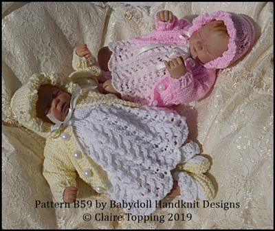 Lacy Dress Set with Flower motif 7-12 inch doll